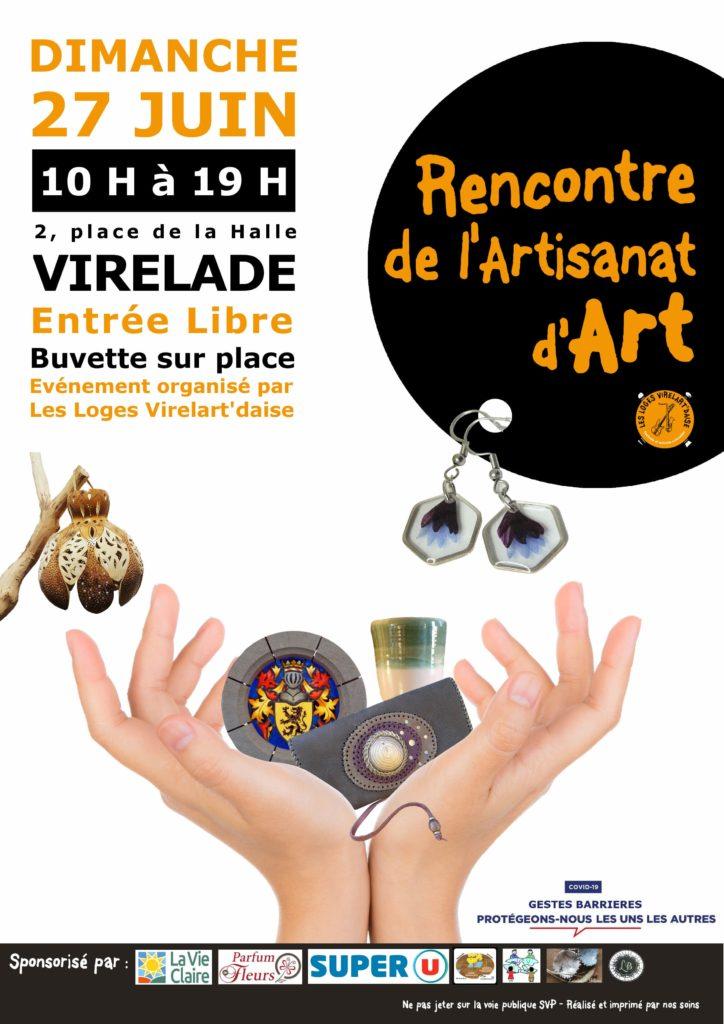 Rencontre de l'artisanat d'art - Dimanche 27 juin à Virelade - Place de la hall - entrée libre